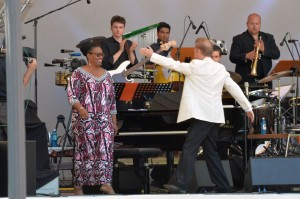 RMF 2015: Dianne Reeves und LJJO Hessen im Kurpark Wiesbaden